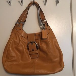 Brown coach leather purse new